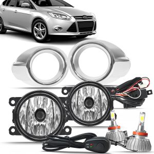 Kit farol de milha Focus 2014 2015 + super led