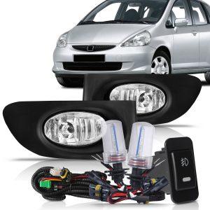 Kit farol de milha Honda Fit 2003 2004 2005 2006 + xênon