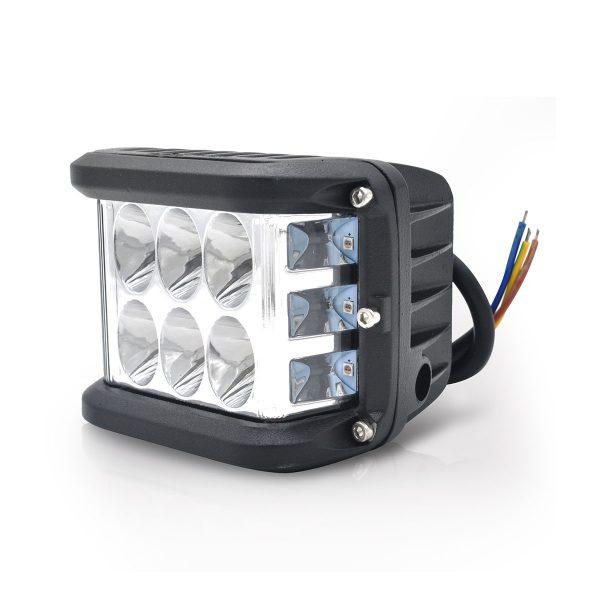 PAR FAROL LED STROBO 12 LEDS 36W - VERMELHO