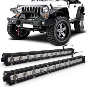 Par farol de milha auxiliar barra led Off-Road Slim 12 leds 36w