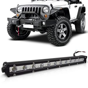 Farol de milha auxiliar barra led Off-Road Slim 12 leds 36w