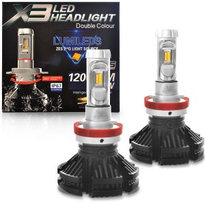 Kit lâmpada ultra led H27 6000K headlight 12V com canbus