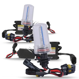 Kit completo lâmpada xênon H1 8000K 35W 12V com reator