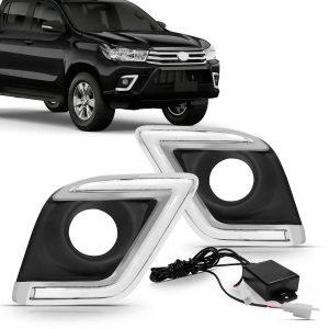 Kit moldura de milha Daylight Toyota Hilux 2015 a 2017