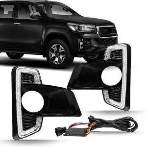 Kit moldura de milha Daylight Toyota Hilux 2018 a 2020