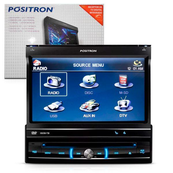 "DVD Pósitron player retrátil + TV digital Tela 7"" SP6700DTV"