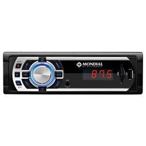 Auto Rádio MP3 Player 180W Mondial entrada USB Radio FM