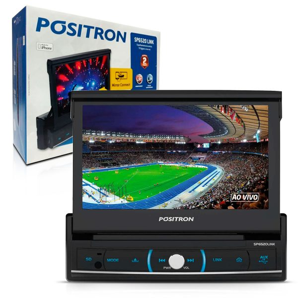 DVD player retrátil Pósitron + TV digital