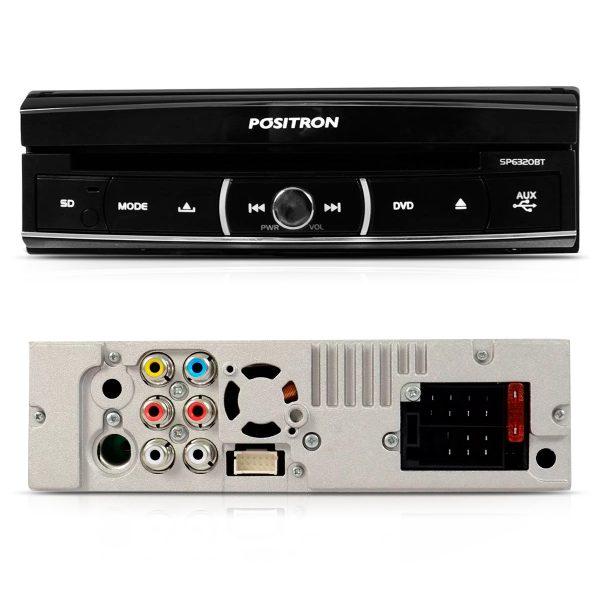 DVD player retrátil Pósitron com câmera de ré