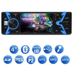MEDIA RECEIVER BLUETOOTH / USB / MP3 PLAYER TELA 4 POLEGADAS H – TECH HMP – 3010